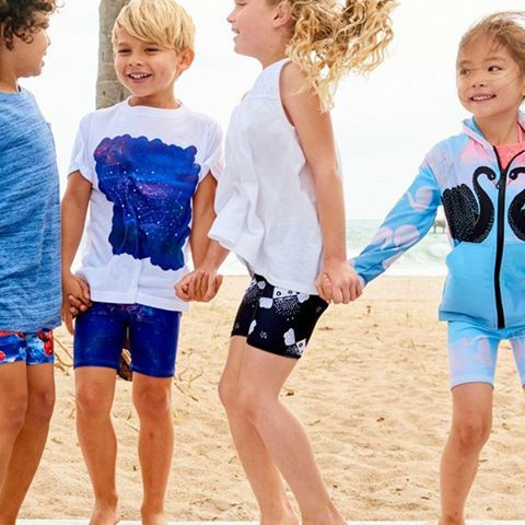 Have you tried our mid-length sunblocker shorts yet?  Prevent chafing and sand getting to places it shouldn't be with chemical-free UPF 50+ sun protection. Pair with a rash guard top for a day at the beach or a t-shirt for a casual play date. Its quick-drying properties keep kids cozy all day long.  #kidshorts  #kidsfashion  #kidssunprotection  #beach  #sand  #upf50  #kids  #sunpoplife