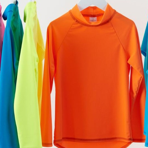 These bright colored UPF 50+ rash guards bring happiness to our lovely teenyboppers, even as normal everyday clothing!  #sunpoplife #kidssunprotection #kidsrashguards #brightcolorrashguards #kidseverydaywear #kidsathleisurewear #kidshappiness #christmasgifts #giftseason #givethegiftofsunprotection #windandwaves #brightcolors #orange #blue #pink #yellow #teachthemearly #goodhabits #december