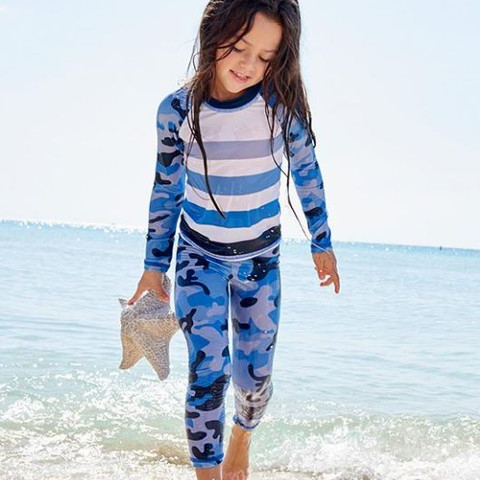 #tbt! Don't miss our classics too much! Still available online.  #sunpoplife #kidssunprotection #kidsrashguards #sunpoplifeclassics #kidseverydaywear #kidsathleisurewear #kidshappiness #kidssports #familyactivities #bluecamo #girlsrashguards #blue #christmasgifts #giftseason #givethegiftofsunprotection #teachthemearly #goodhabits #december