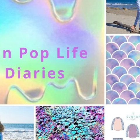 """My daughter loved the fish scale set and wore it daily while we were in Punta Mita. The colors are so beautiful and the material is super soft."" For the Scalie Girlie print we used a combination of pastels colors, water colors and crayons to create a mosaic - fish scale like texture that resulted in a colorful print with gradient quality.  #sunpoplife #scaliegirlie #fishscales #mermaids #aqua #watercolors #inspiration #mosaicprint #pastelcolors #girliecolors #toddlergirl #teenagegirl #youthgirl #upfclothing #longsleeverashguards #girlsswinsuits #girlsactivewear #girlshybridclothes #girlsswimwear #girlsbeachwear #girlsrashguards #girlsswimpants #girlsleggings #mermaidindisguise #giftideas #thanksgiving #blackfriday #nationalentrepreneursmonth #smallbusiness #november"
