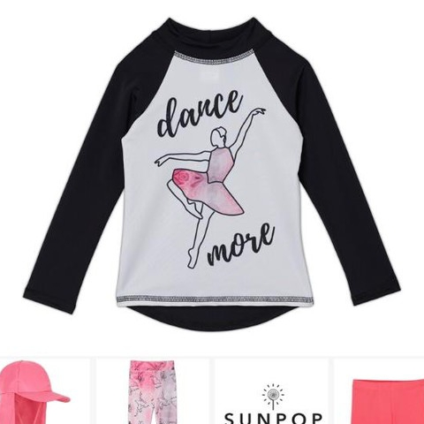 The Ballerina - Dance More Collection is perfect for your ballerina at heart no matter the environment. Her thoughts and movement exude dance in all its forms; traditional, modern, gymnastics, acrobatics or even aerial. This movement-filled conversational print captures the delicate fluidity of dance and releases it into a wet, fun-filled under the sun athleisure wear realm. . . . . #sunpoplife #girlsuvclothing #upf50plus #uvprotection #girlssessentials #girlsrashguards #girlsleggings #safeinthesun #sunprotectivebeachwear #besunsmart #toddlergirl #girl #teenagegirl #hybridleggings #ballerina #girlactivewear #ballerinaswimwear #uvswimwear #girlsbeachwear #ballerinarashguards #ballerinaleggings #ballerinaatheart #lovedance #littleballerina #wardrobewednesdays #giftideas #smallquantities #nationalentrepreneursmonth #november #shopsmall