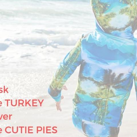On this holiday, wrap those cutie pies in Sun Pop Life. Happy Thanksgiving 2019! . . . #sunpoplife #sunprotectiveclothingforkids #kidsoutfits #kidsgifts #thanksgiving2019 #funnyquotes #basketheturkey #cutiepie #avoidsundamage #gratitude #thanks #begrateful #kidsoutfits #kidswear #kidsactivewear #kidshybridclothes #upfclothing #girlsuvclothes #boysuvclothes #shopsmall  #stressfreesunprotection #eco #kidsstyle #besunsafe #teachthemearly #healthylifestyle