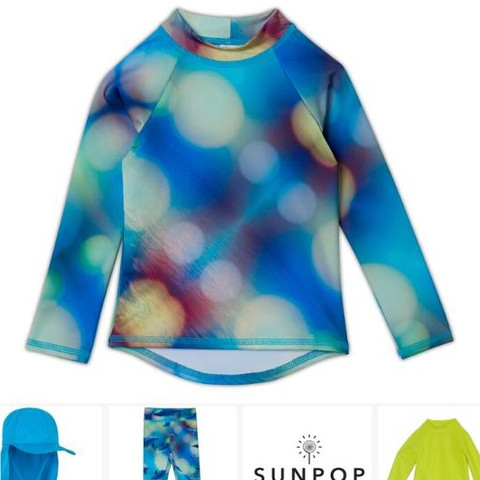 """""""My grandson looks darling in the dolphin set. He loves dolphins and blue is his favorite color."""" Abstract dots with texturized photo realistic dolphins swimming in a blue-green abyss make the Blue Dolphin Collection, an ideal print for all age groups and genders. . . . . #sunpoplife #sunprotection #ropaconproteccionsolar #kidsrashguards #rashguardsets #sunblockingleggingsforkids #swimpants #rashguardsforkids #kidsleggings #madeinUSA #uvswimwearforkids #dophins #dolphinfan #ilovedolphins #abstract #dots #outdoorsfreedom #upf50plus #eco #quickdry #chemicalfreefabric #moisturewicking #protecttheirskin #instantsunprotection #kidsswimsuits #kidsswimwear #kidsbeachwear #giftideas #happyholidays  #december"""