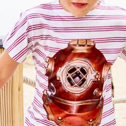 February is a month of love! Try dressing your kids in pink and red to show love on this #WardrobeWednesday. . Antique Diving Helmet Photo T-shirt . . . #sunpoplife #February #Love #Wednesday #Pink #Red #kidstshirts #graphictees #mixedmedia #photoapparel #childrensfashion #ootdkids #kidsoutfits #outdoorfreedom #ValentinesDay #beach #photoapparel #antiquedivinghelmet #divinghelmet #betterthancotton #kidsactivewear #smallproduction #moisturewicking #cancerpreventionmonth