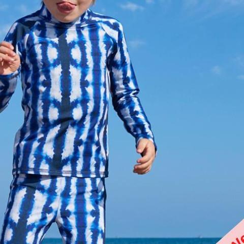Here's a #WardrobeWednesday tip for you: wearing long sleeves is the best method of skin protection. Show their skin some love by using Sun Pop Life Long Sleeve Rash Guard Tops for Kids! . . Shibori Long Sleeves Rash Guard Top . .  #upf50 #ecorashguard #chemicalfree #kids#longsleeveskidswimwear #shibori #rashguardkids #teachthemearly #tiedye #sunprotectiontrivia #skincare #kidsadventures #rashguardset #Love #familytravel #February #pink #red #ValentinesDay #funprints #cancerpreventionmonth #upftips #sunprotectionyouwear #saynotocancer