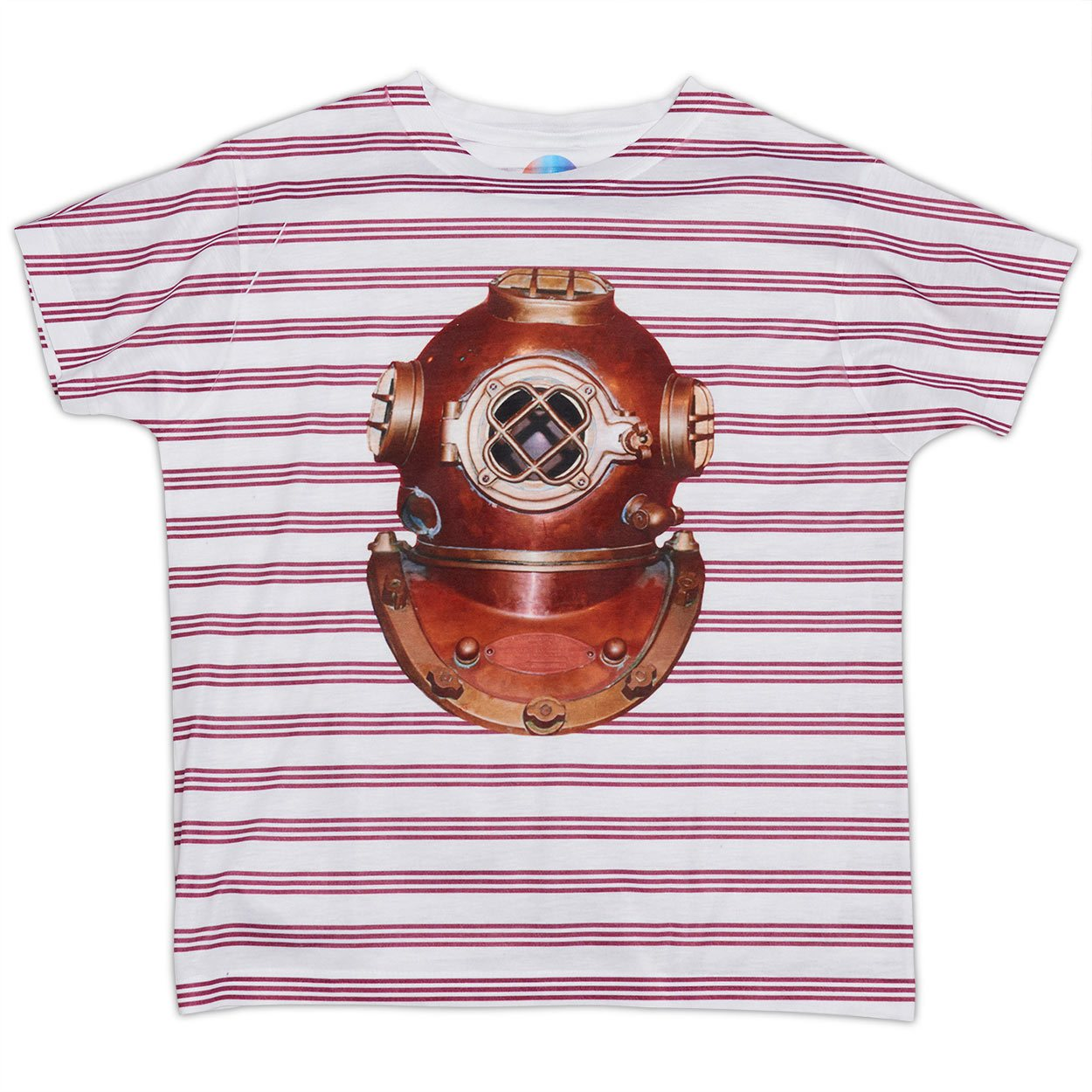 Boys Antique Diving Helmet Photo T-shirt
