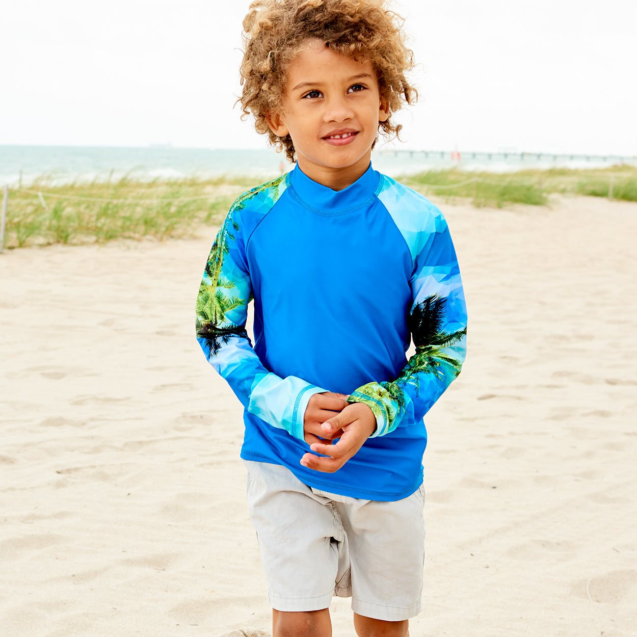 Hawaiian Long Sleeve Rash Guard Top