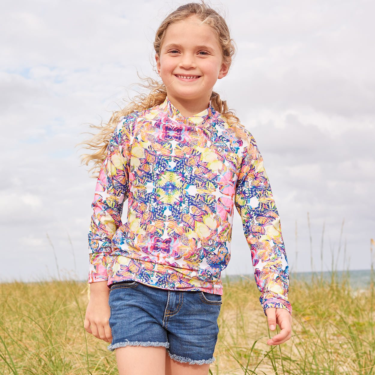 Kaleidoscope Long Sleeve Rash Guard Top