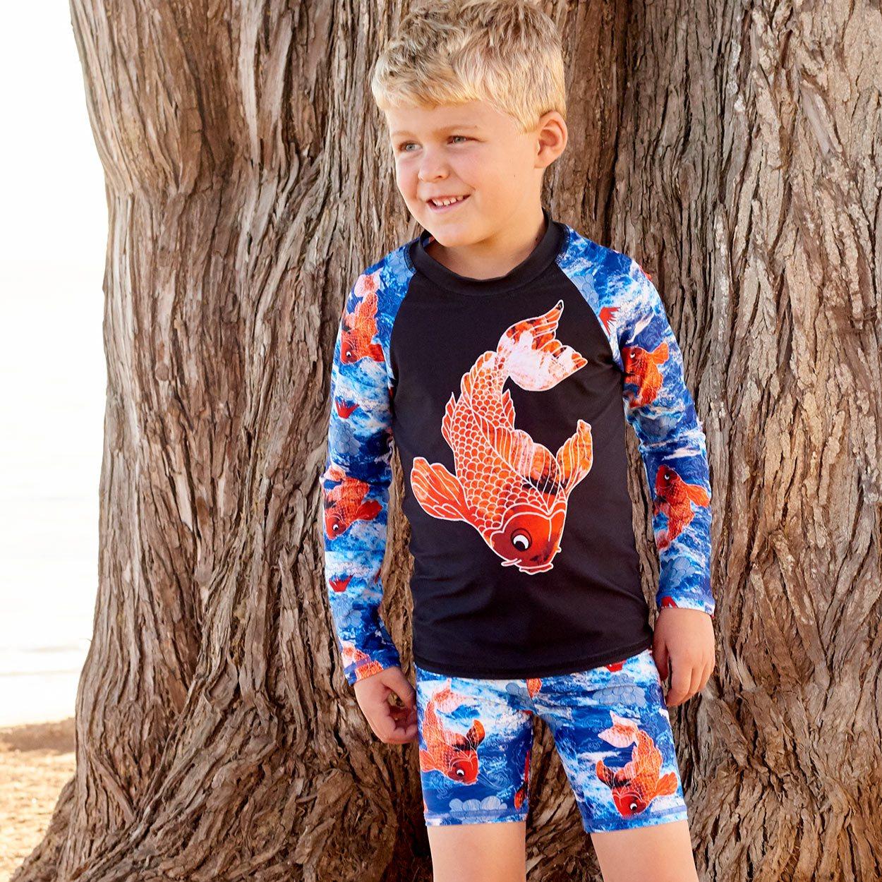 Koi Fish Sun Blocker Shorts