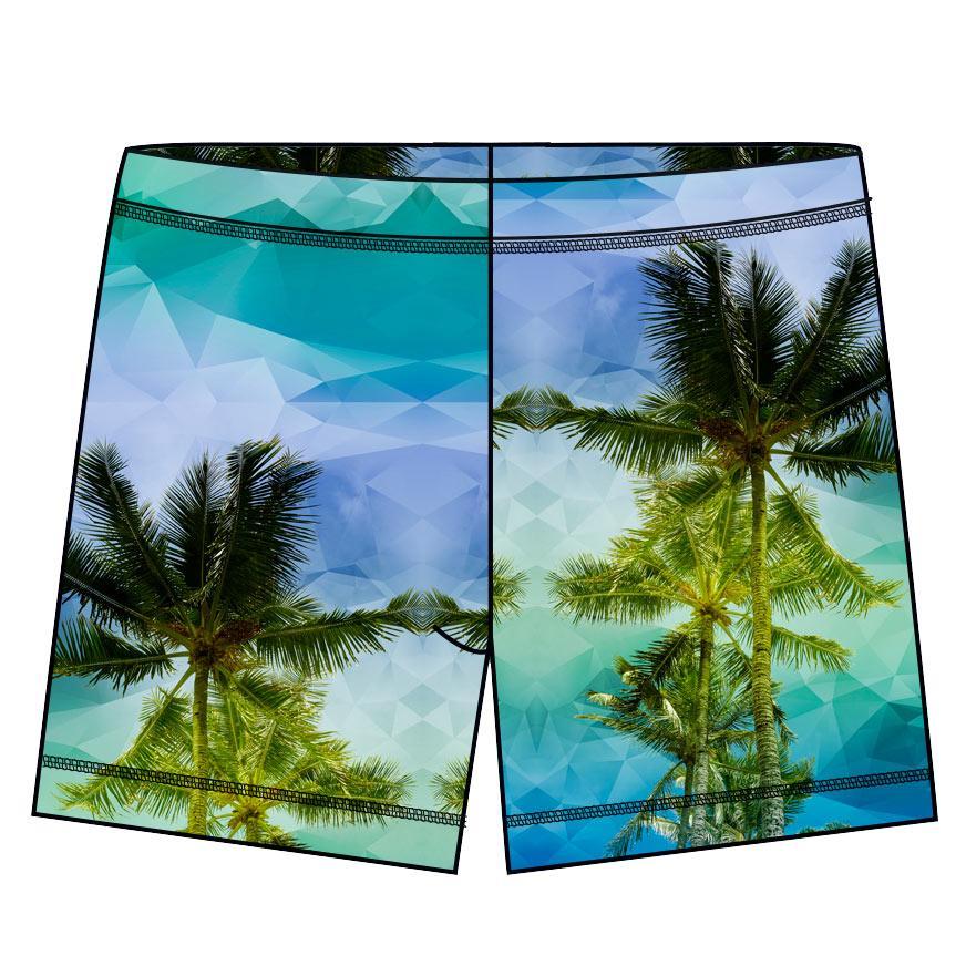 Palm Trees Hybrid Shorts