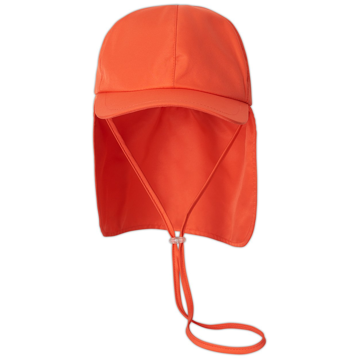 Kids Orange Legionnaire Sun Hat Upf 50 Size S Xl Boys Girls Unisex Front View Sunpoplife
