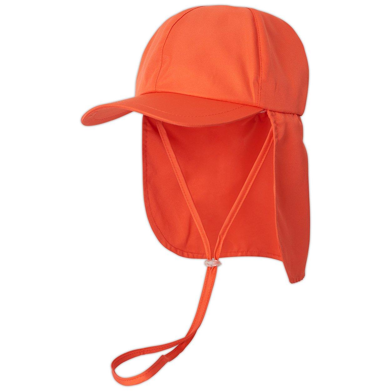 5ebec0c67e5cb Kids Orange Legionnaire Sun Hat Upf 50 Size S Xl Boys Girls Unisex  Sunpoplife Back Left