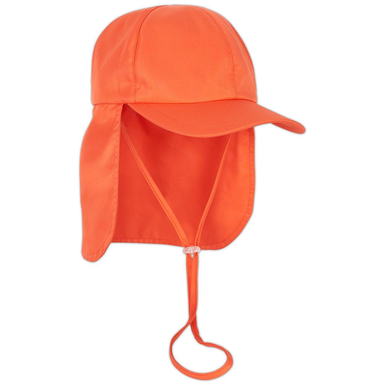 0c5e3ae097733 Kids Orange Legionnaire Sun Hat Upf 50 Size S Xl Boys Girls Unisex  Sunpoplife Right View