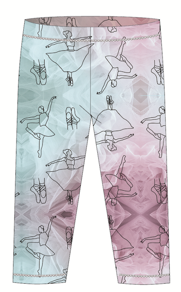 Ballerina Kids Leggings UPF 50+ for Girls