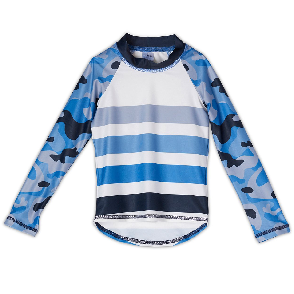 Blue Camo Rash Guard Top UPF 50+