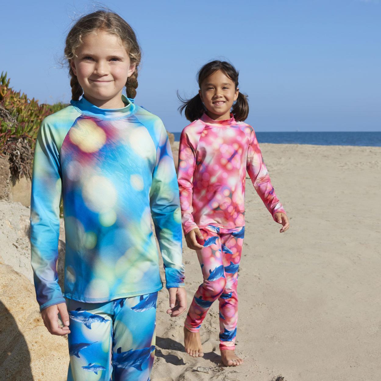 Blue Dolphin Hybrid Kids Leggings UPF 50+