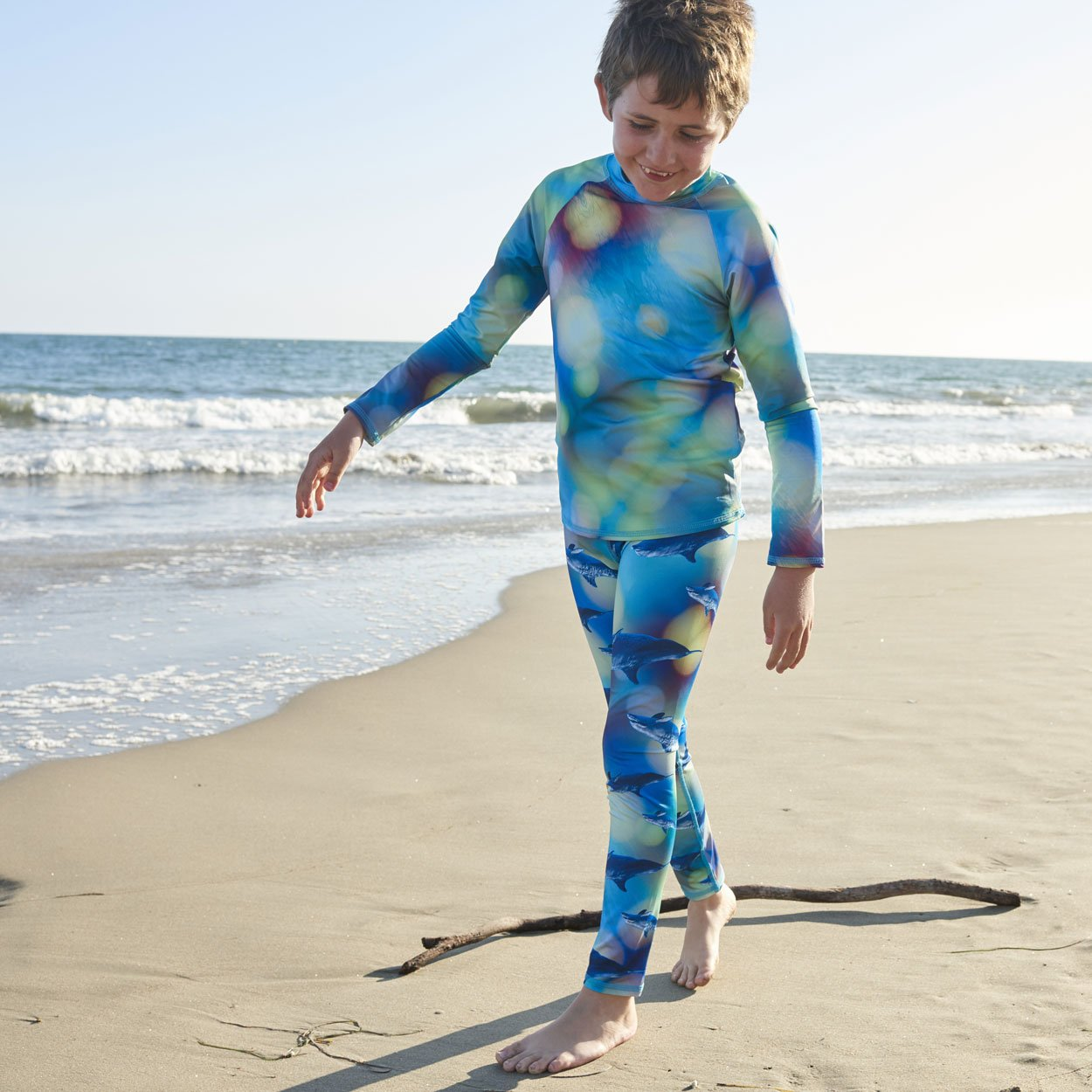 Blue Dolphin Hybrid Youth Leggings UPF 50+