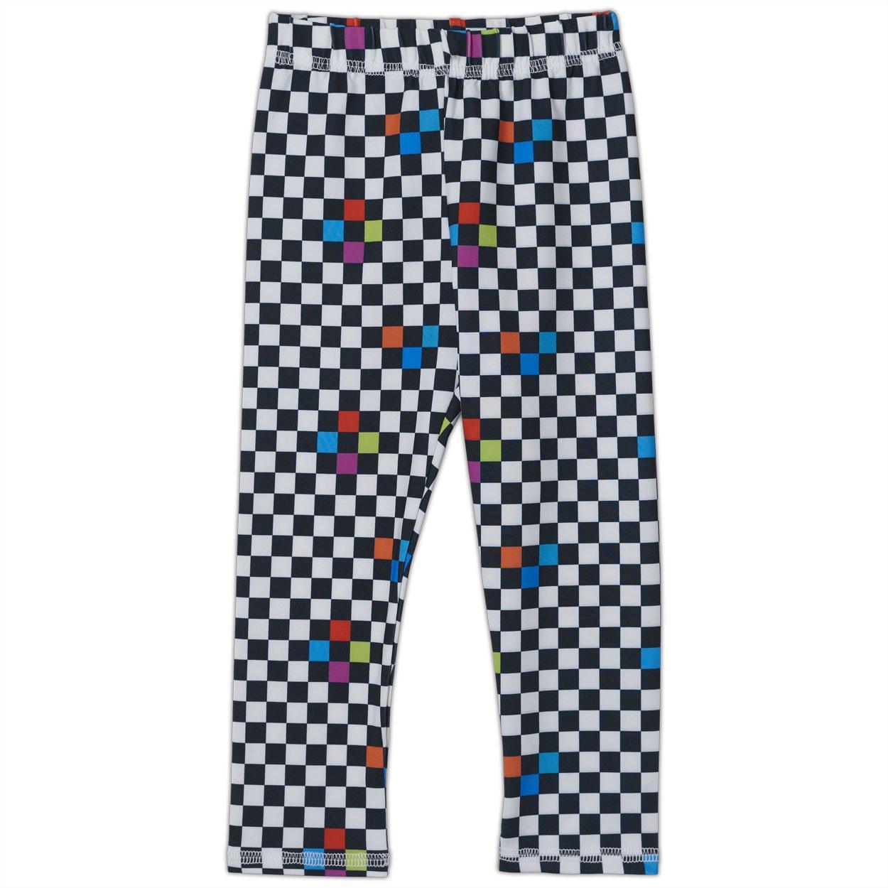 Checkerboard Hybrid Kids Leggings UPF 50+