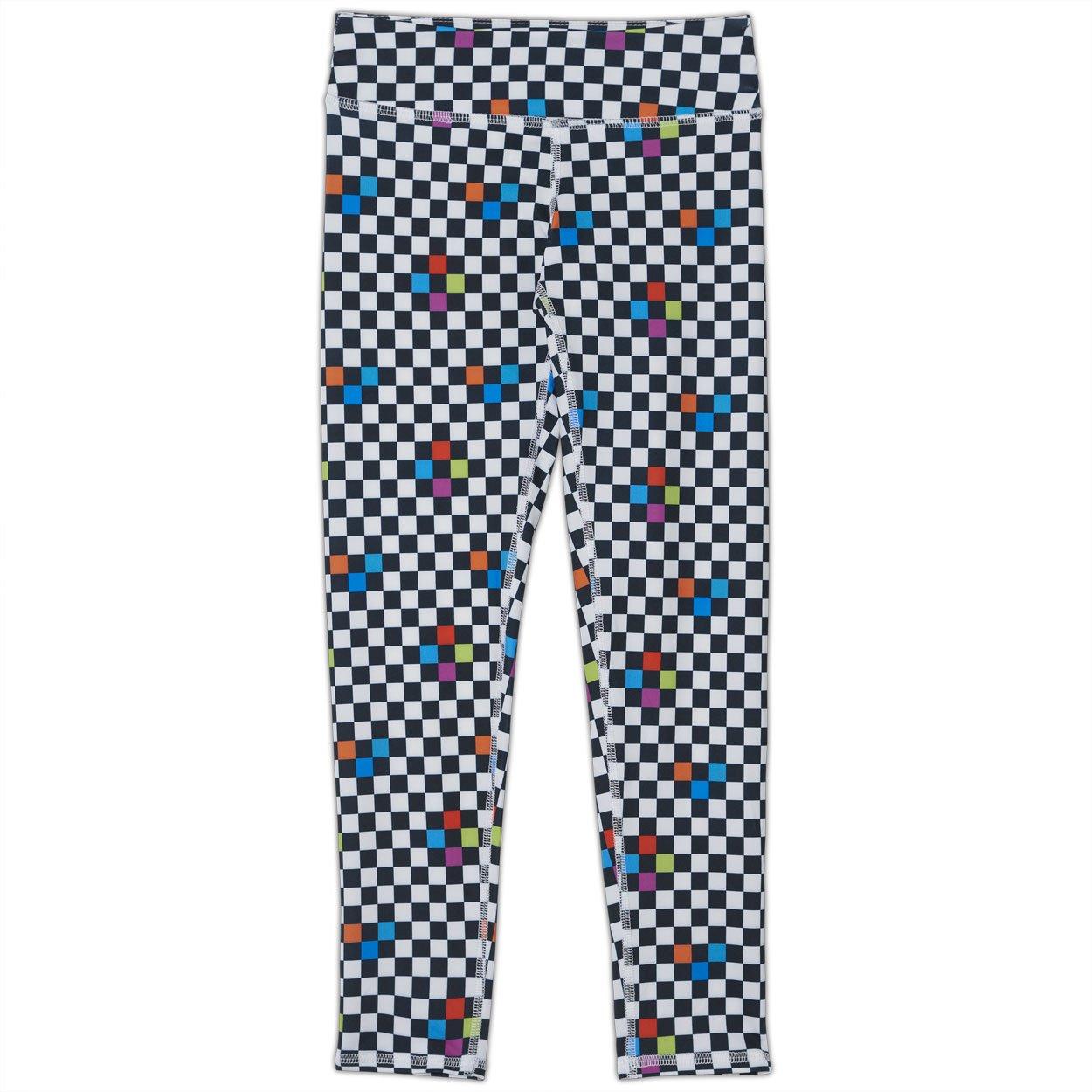 Checkerboard Hybrid Youth Leggings UPF 50+