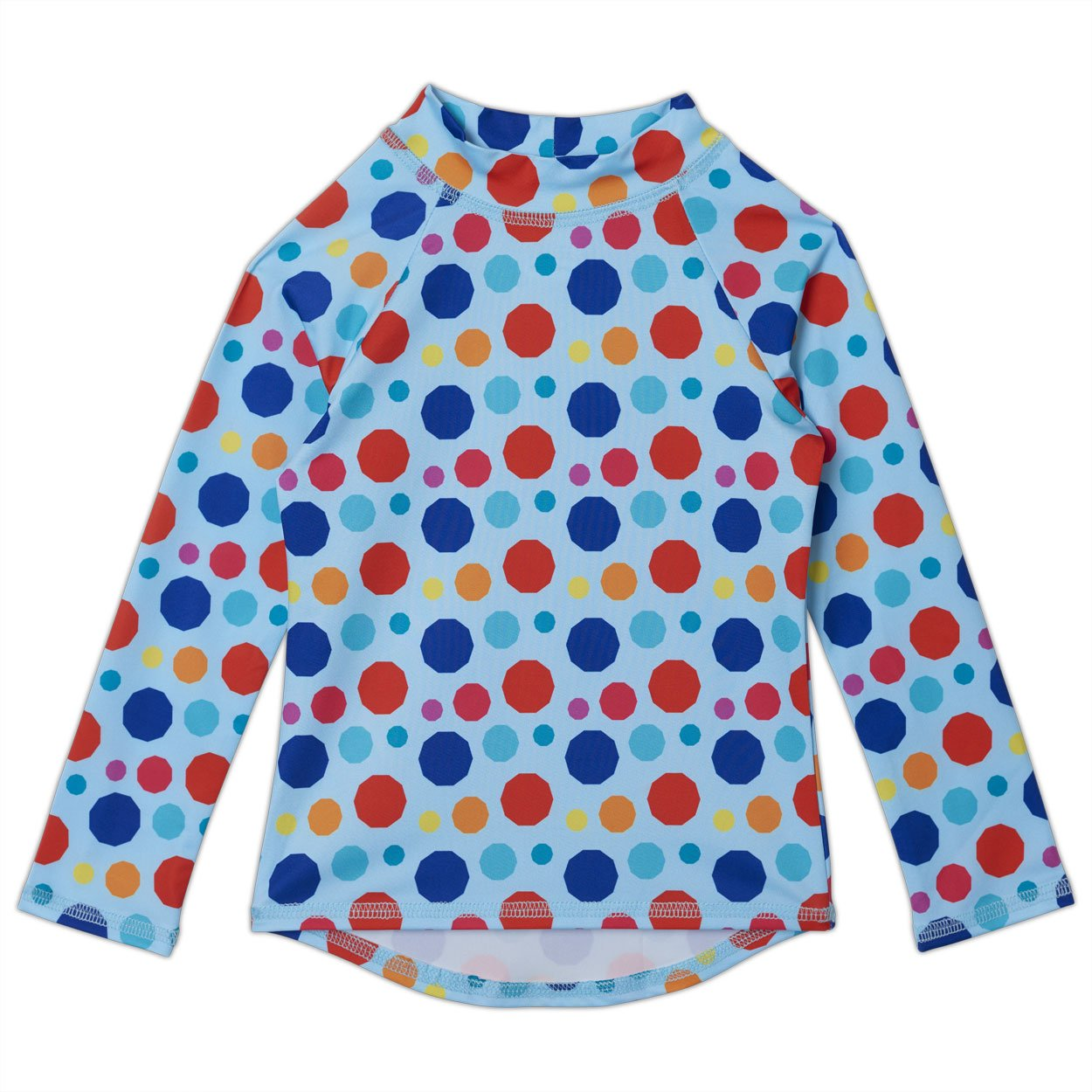 Dots Long Sleeve Rash Guard Top UPF 50+ for Girls