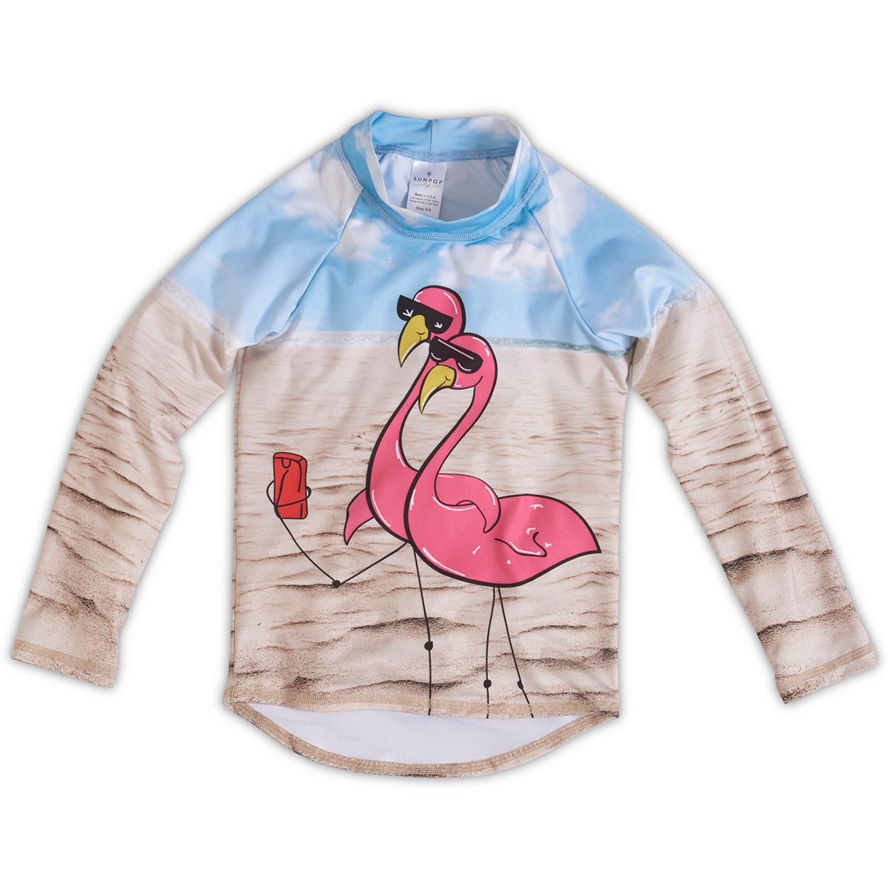 Flamingos Rash Guard Top UPF 50+