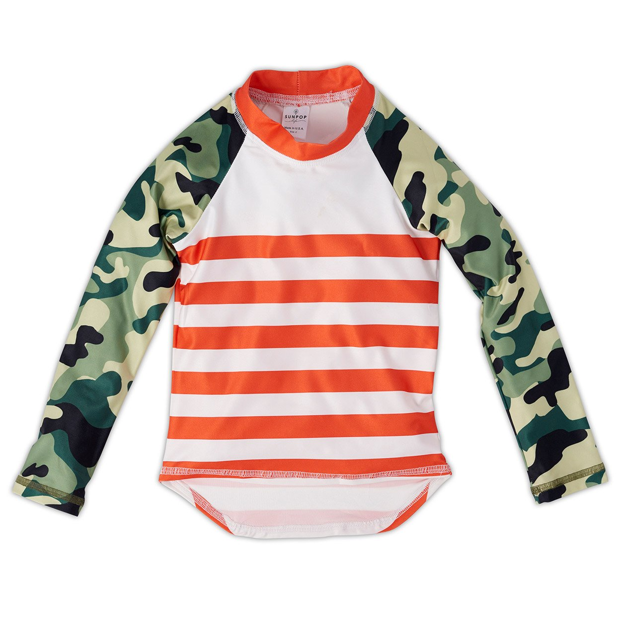 Green Camo Rash Guard Top Unisex Sunpoplife