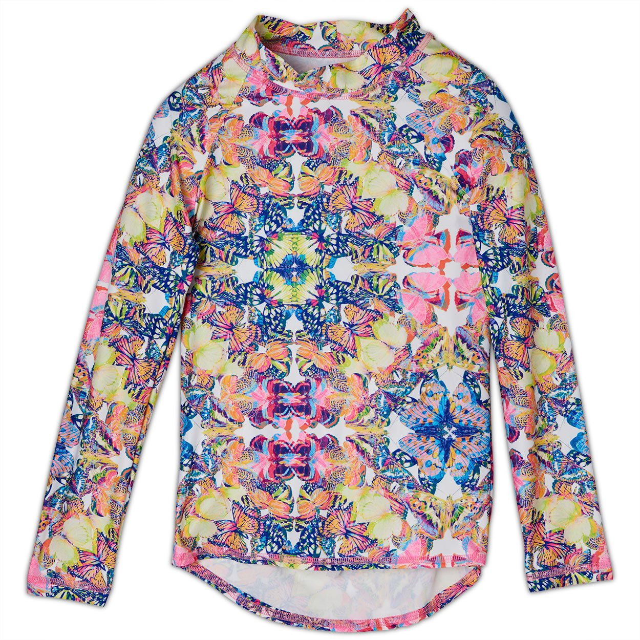 Kaleidoscope Long Sleeve Rash Guard Top UPF 50+