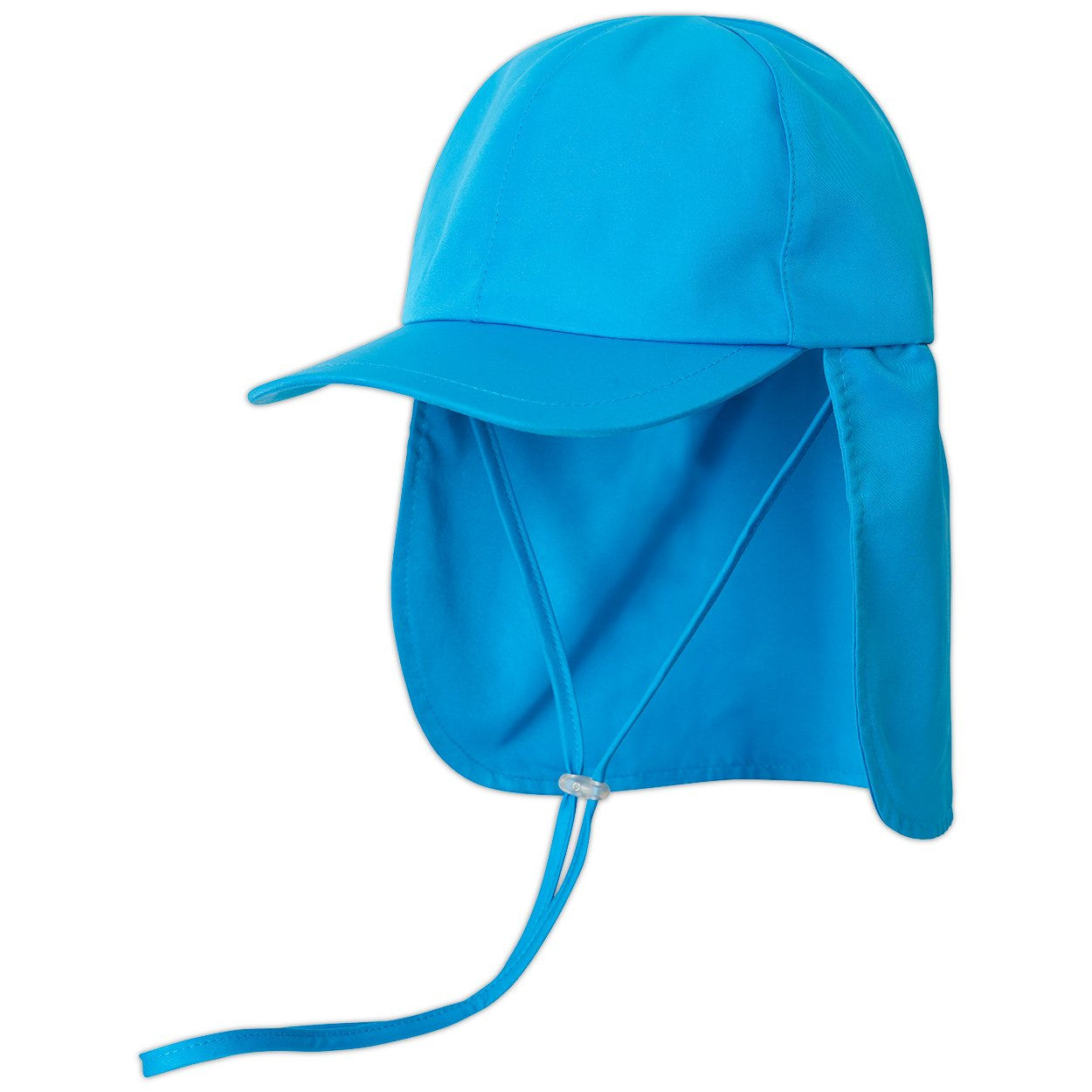 Kids Blue Legionnaire Sun Hat Upf 50 Size S Xl Unisex Boys Girls Blue Left View Sunpoplife