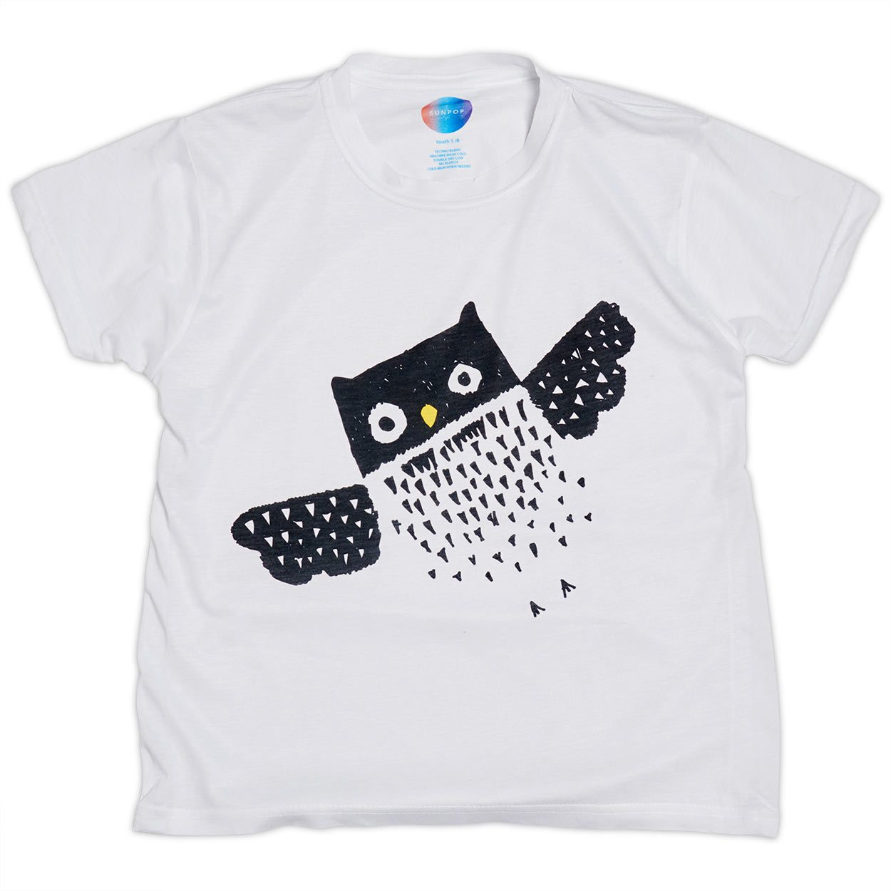 Kids Diagonal Owl Graphic T-shirt