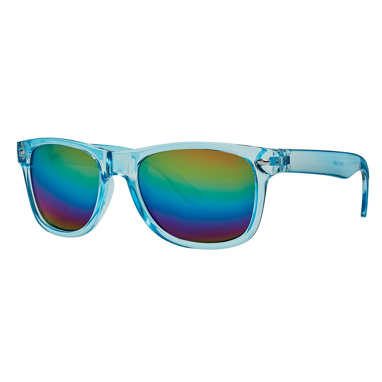 Kids Sunglasses Uv 400 Kids 3 8 Unisex Blue Wayferer Rainbow Mirrored Glasses Sunpoplife