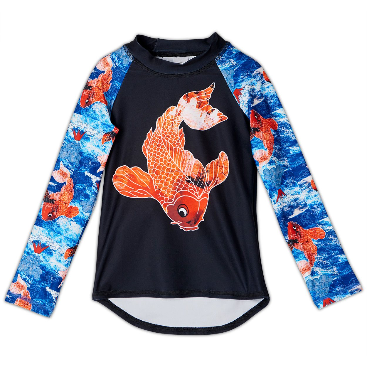 Koi Fish Long Sleeve Rash Guard Top UPF 50+