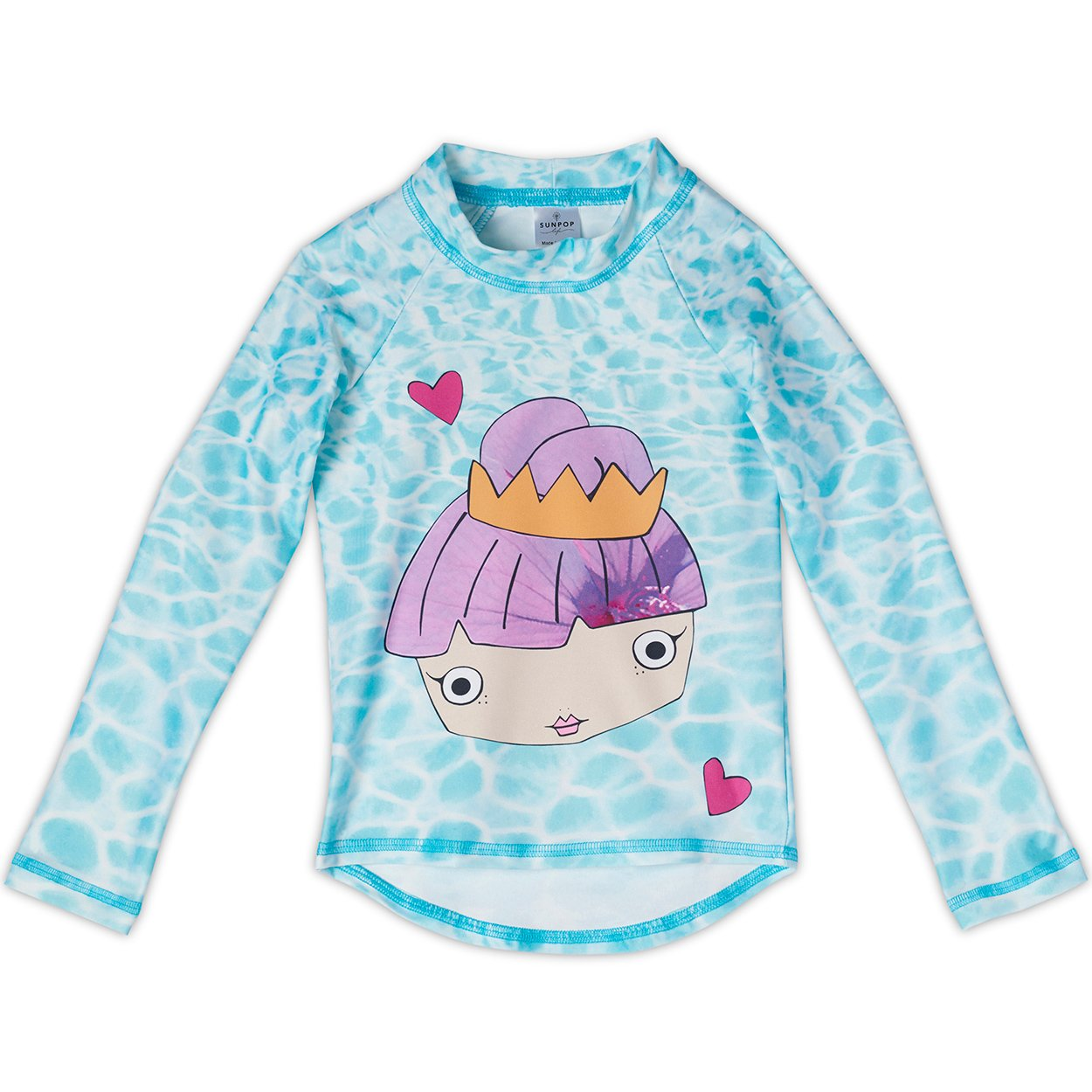 Mermaid Rash Guard Top UPF 50+ for Girls