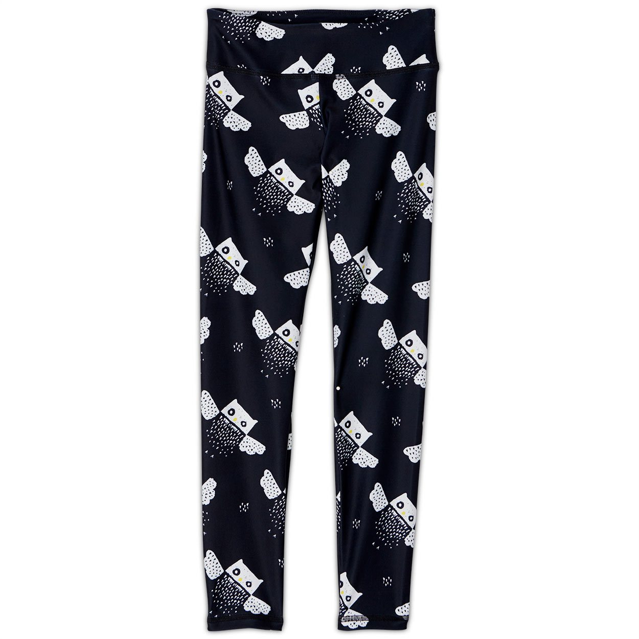 Owls Sunblocker Youth Leggings Upf50 Girls 6 12 Black White Sunpoplife