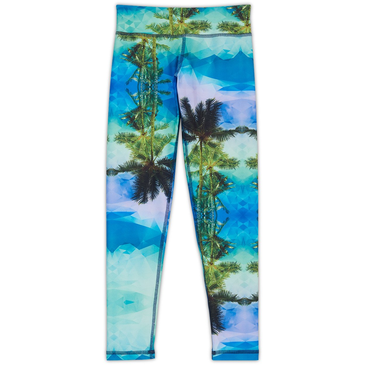 Palm Trees Hybrid Youth Leggings UPF 50+
