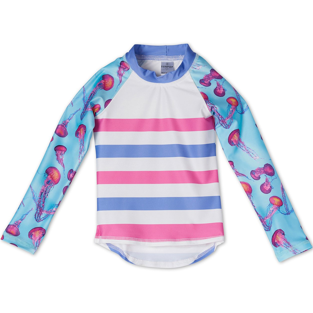 Pink Jellyfish Rash Guard Top UPF 50+ for Girls