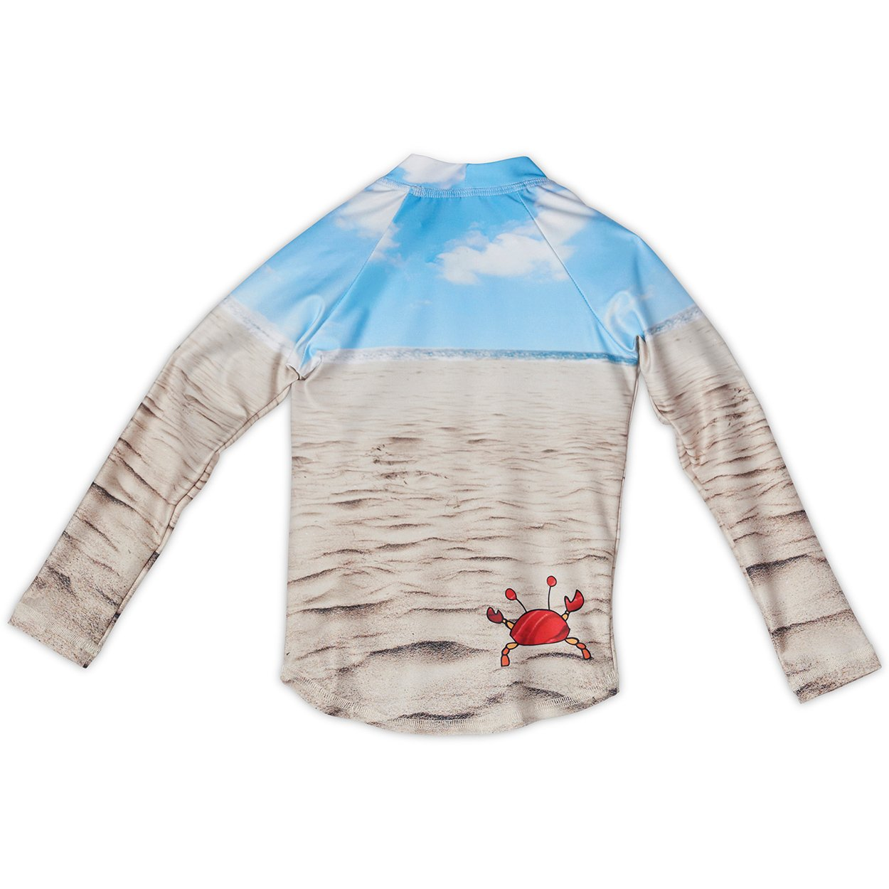 Sunny Crab Rash Guard Back Front Kids Sunpoplife