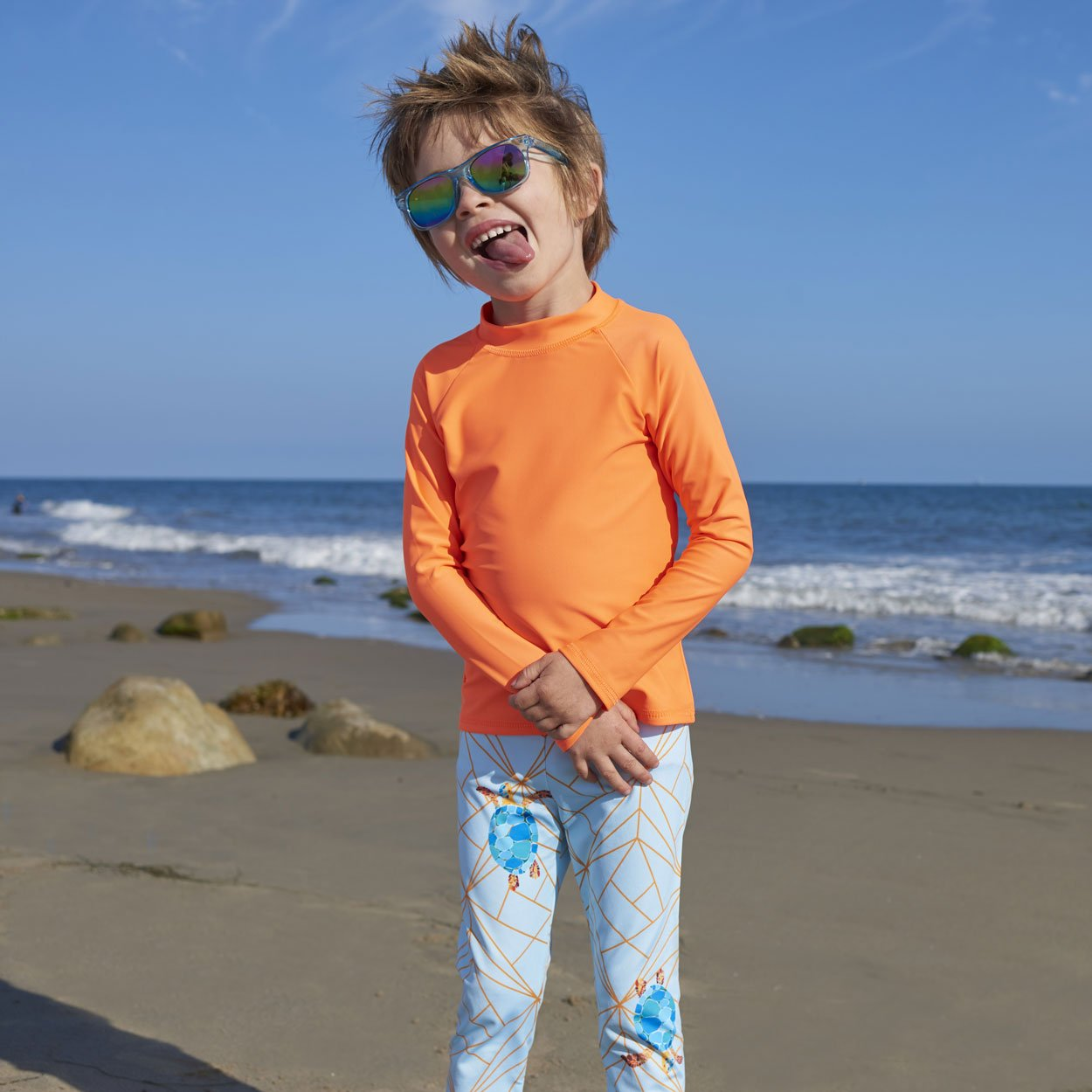 Turtle Hybrid Kids Leggings UPF 50+