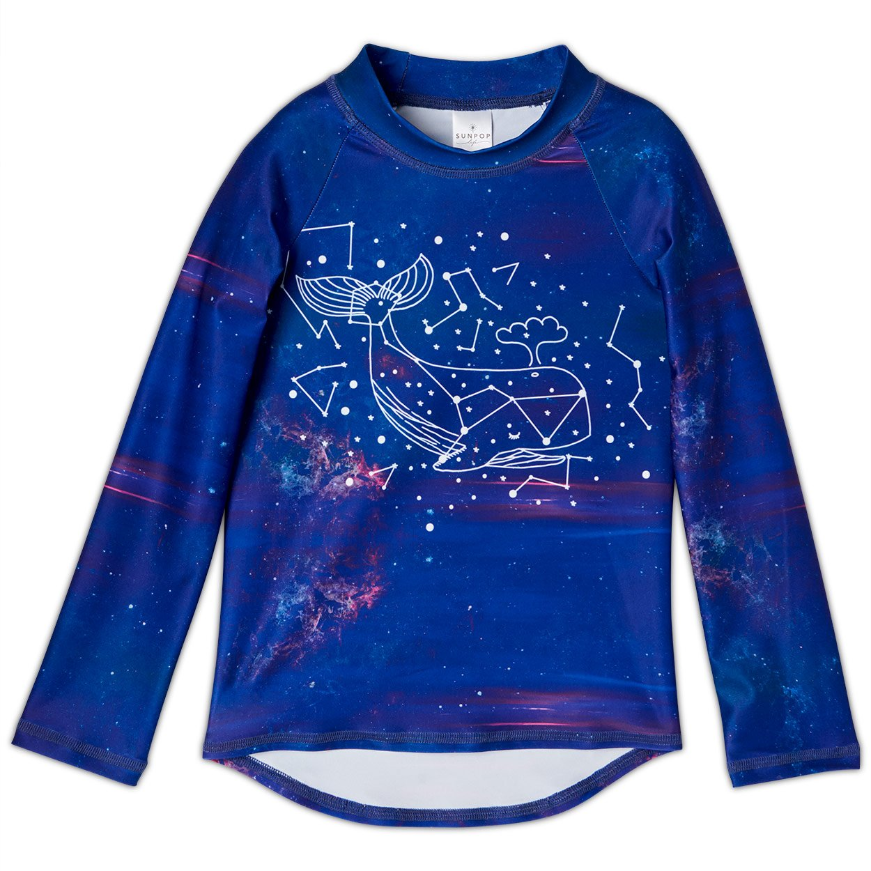 Whale Long Sleeve Rash Guard Top UPF 50+