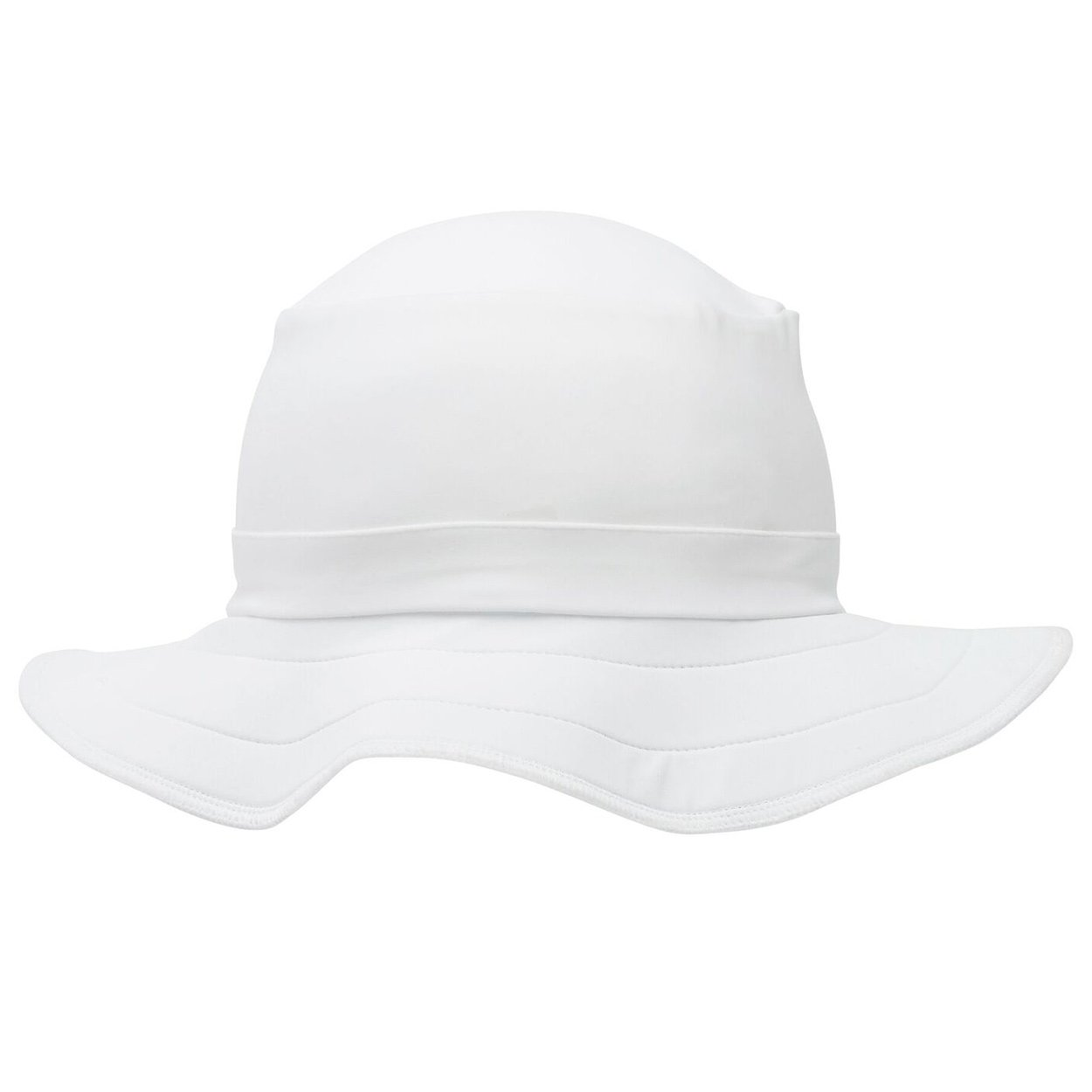 White Funky Bucket Hat Upf 50+